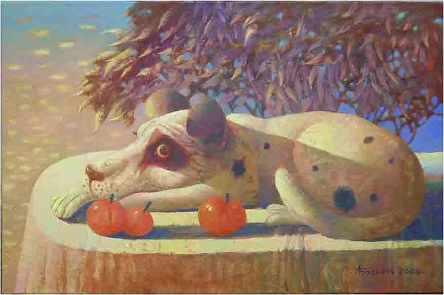 Собака с помидорами.