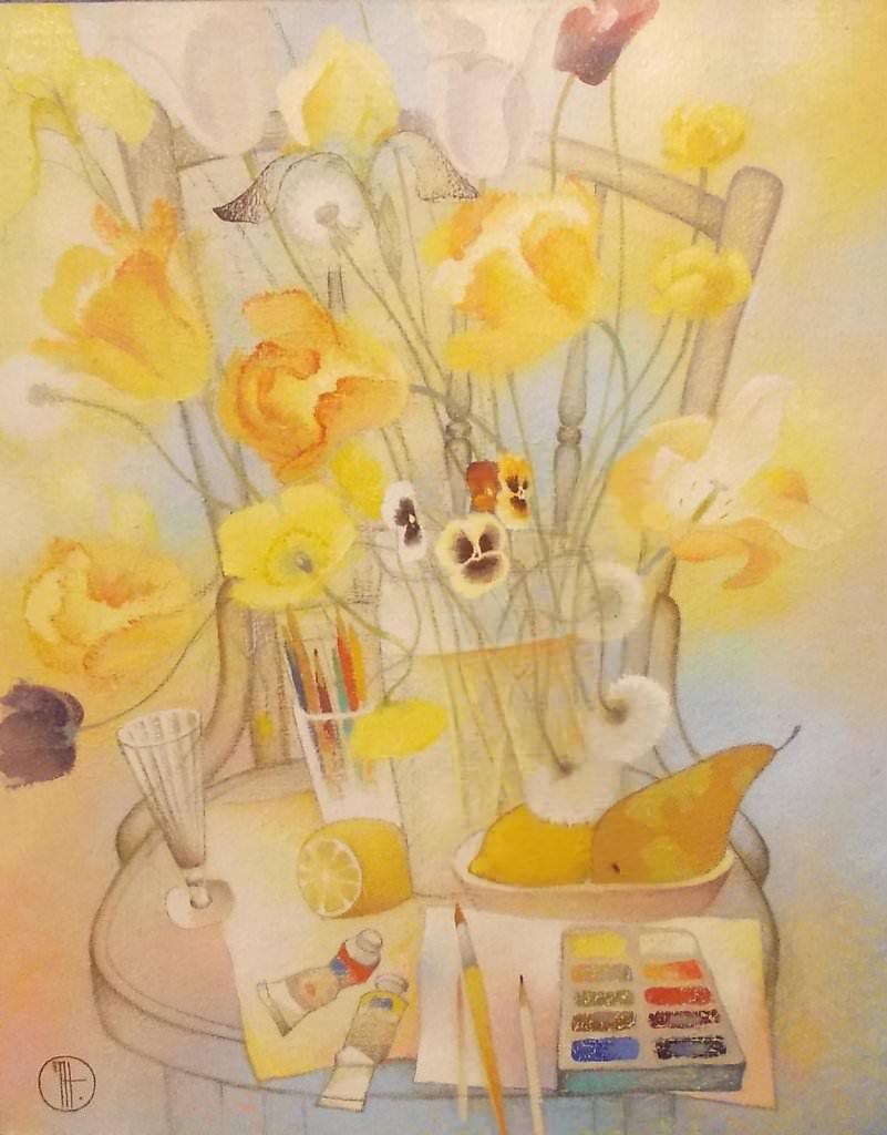 Натюрморт с голландскими тюльпанами.